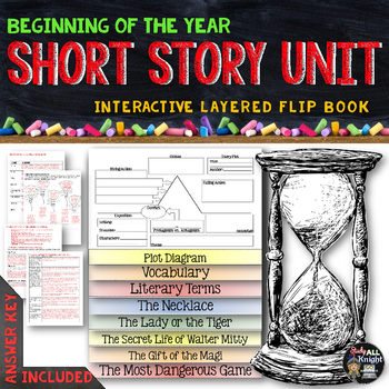 Short Story Unit Literature Guide Flip Book - Study All Knight