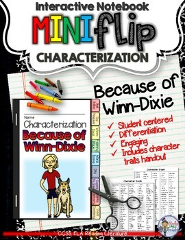 Because of Winn-dixie: Interactive Notebook ...